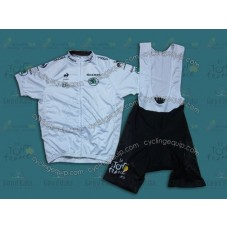 2014 TDF Young Rider Classification White  Cycling Jersey And Bib Shorts Set