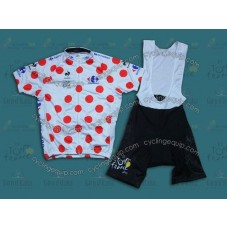 2014 TDF Mountains Classification  Cycling Jersey And Bib Shorts Set
