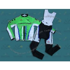 2014 Cannondale Factory Team  Cycling Long Sleeve Jersey And Bib Pants Set