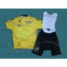 2014 TDF General Classification Yellow  Cycling Jersey And Bib Shorts Set