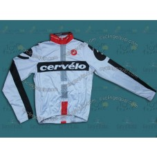 2014 Cervelo White Thermal Long Sleeve Cycling Jersey