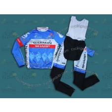 2014 Team Garmin - Sharp  Cycling Long Sleeve Jersey And Bib Pants Set