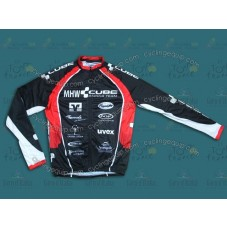 2013 CUBE MHW Black Cycling Long Sleeve Jersey