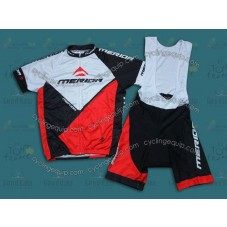 2014 Merida White And Red  Cycling Jersey And Bib Shorts Set