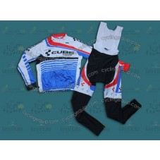 2014 Cube  Cycling Long Sleeve Jersey And Bib Pants Set