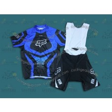 2014 Fox Blue  Cycling Jersey And Bib Shorts Set