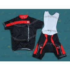 2014 Team 3T Black  Cycling Jersey And Bib Shorts Set