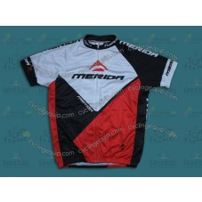 2014 Merida White And Red   Cycling Jersey
