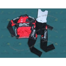 2014 Team BMC Cycling Long Sleeve Jersey And Bib Pants Set