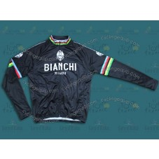 Bianchi Champion Black Cycling Long Sleeve Jersey