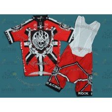 Rock Racing London Red Cycling Jersey and Bib Shorts Set