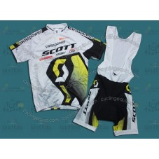 Scott 2011 White/Yellow Cycling Jersey And Bib Shorts Set