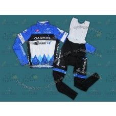 2012 CER-Garmin Thermal Long Sleeve Cycling Jersey And Bib Pants Set