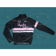 2014 Rapha Black And Pink  Thermal Cycling Long Sleeve Jersey