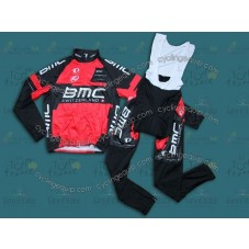 2014 Team BMC  Thermal Long Cycling Long Sleeve Jersey And Bib Pants Set