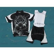 2012 Wild Wolf Black Cycling Jersey And Bib Shorts Set