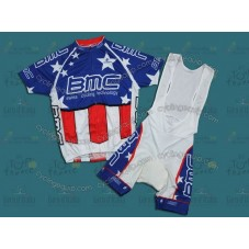 BMC Blue Cycling Jersey And Bib Shorts Set