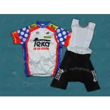 Throwback Teka Spain Champion Cycling Jersey And Bib Shorts Set