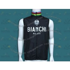 Bianchi Champion Black Cycling Wind Vest