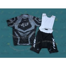 2014 Fox Grey  Cycling Jersey And Bib Shorts Set