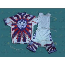 2014 RockRacing Blue  Cycling Jersey And Bib Shorts Set