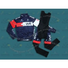 2014 Team IAM  Thermal Long Cycling Long Sleeve Jersey And Bib Pants Set