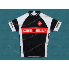Castelli Black/Red/White Cycling Jersey