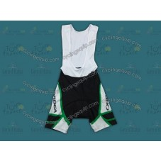 2012 Orbea White And Green Cycling Bib Shorts
