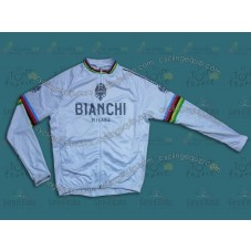 Bianchi Champion White Cycling Long Sleeve Jersey