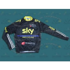 2013 SKY Black And Yellow Cycling Long Sleeve Jersey
