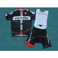 2014 Team Cervelo Black  Cycling Jersey And Bib Shorts Set