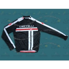 2014 Castelli Free Style Black and Red Cycling Long Sleeve Jersey