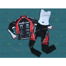 2013 CUBE MHW Black Cycling Long Sleeve Jersey And Bib Pants Set