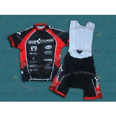 2013 CUBE MHW Black  Cycling Jersey And Bib Shorts Set