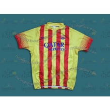 2014 Barcelona Barca Red And Yellow   Cycling Jersey