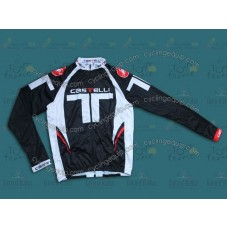 2014 Castelli Black T Style Cycling Long Sleeve Jersey