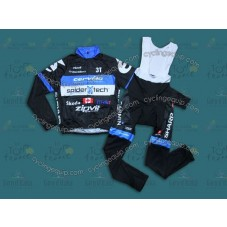 2013 Cervelo Spider Tech  Thermal Long Cycling Long Sleeve Jersey And Bib Pants Set