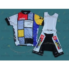 Team La Vie Claire Vintage  Cycling Jersey And Bib Shorts Set
