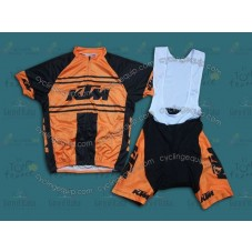 Team KTM Orange Vintage  Cycling Jersey And Bib Shorts Set