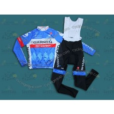 2014 Garmin Sharp Tour de France  Cycling Long Sleeve Jersey And Bib Pants Set
