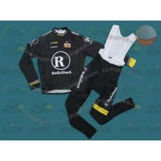 RadioShack Black R28 Thermal Cycling Long Sleeve Jersey And Bib Pants Set