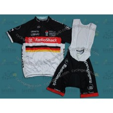 2012 RadioShack Nissan Trek GER Champion Cycling Jersey And Bib Shorts Set