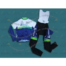 2014 Orica  Cycling Long Sleeve Jersey And Bib Pants Set