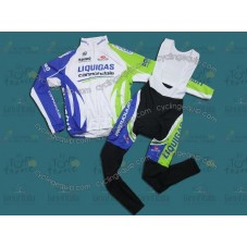 2011 Liquigas Thermal Cycling Long Sleeve Jersey And Bib Pants Set