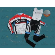 2012 Cube Team Thermal Cycling Long Sleeve Jersey And Bib Pants Set