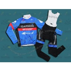 2012 Tour de France Garmin Sharp Thermal Cycling Long Sleeve Jersey And Bib Pants Set