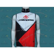 2014 Merida White And Red Cycling Wind Vest