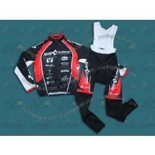 2013 CUBE MHW Black  Thermal Long Cycling Long Sleeve Jersey And Bib Pants Set