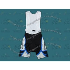 2012 Orbea White And Blue Cycling Bib Shorts