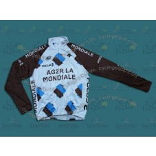 2014 Ag2r-La Mondiale  Thermal Cycling Long Sleeve Jersey